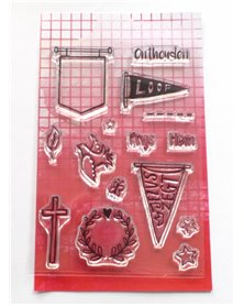 Bible journaling clearstamps 'Banners'