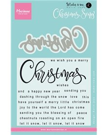 Marianne Design - Clear stamps christmas song